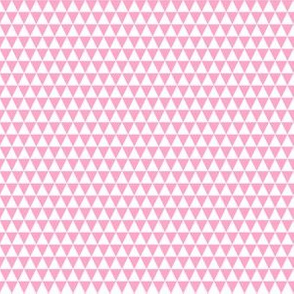 Quarter Inch White and Carnation Pink Triangles