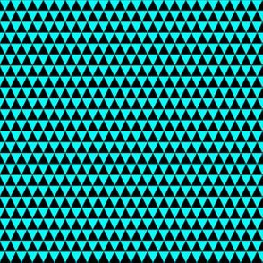 Quarter Inch Black and Aqua Blue Triangles