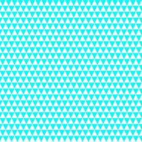 Quarter Inch White and Aqua Blue Triangles