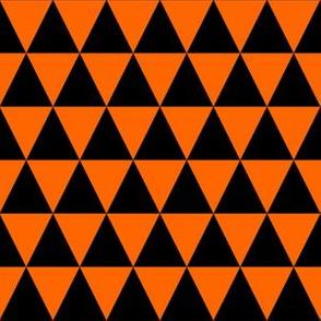 One Inch Black and Orange Triangles