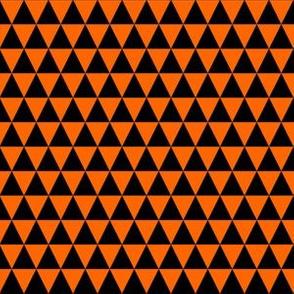 Half Inch Black and Orange Triangles