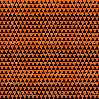 Quarter Inch Black and Orange Triangles