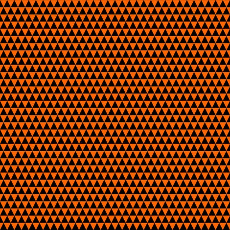 Quarter Inch Black and Orange Triangles fabric by mtothefifthpower on Spoonflower - custom fabric