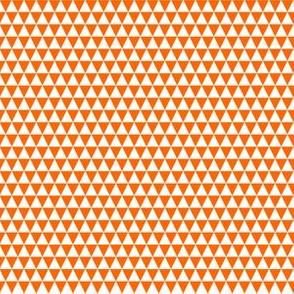 Quarter Inch White and Orange Triangles