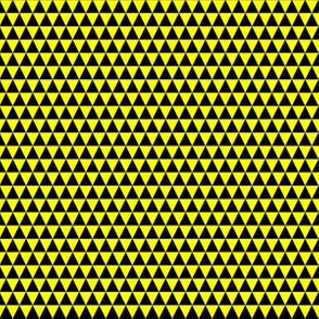 Quarter Inch Black and Yellow Triangles