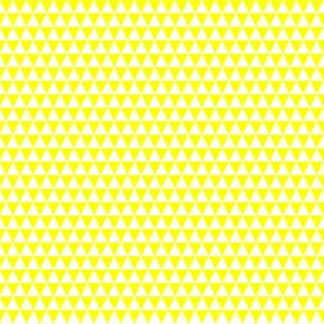 Quarter Inch White and Yellow Triangles