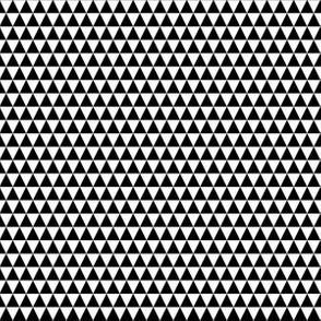 Quarter Inch Black and White Triangles
