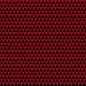 Quarter Inch Black and Dark Red Triangles