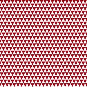 Quarter Inch White and Dark Red Triangles