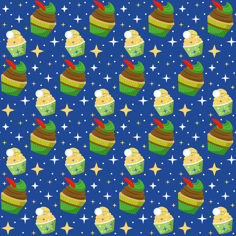 Neverland Cupcakes fabric by ejrippy on Spoonflower - custom fabric