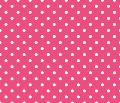 White Polkadots on Rapture Rose  fabric by paper_and_frill on Spoonflower - custom fabric