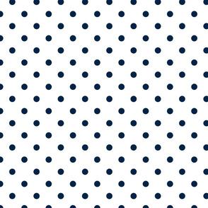 Sailor Blue Polkadots on White