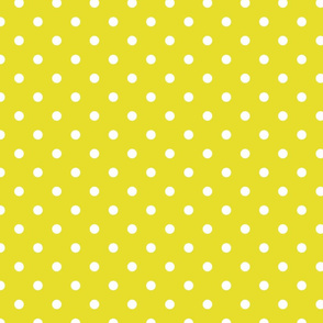 White Polkadots on Meadowlark Yellow