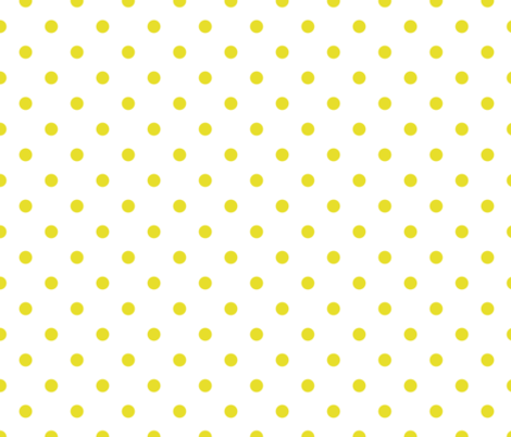 Meadowlark Yellow Polkadots on White fabric by paper_and_frill on Spoonflower - custom fabric