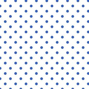 Palace Blue Polkadots on White