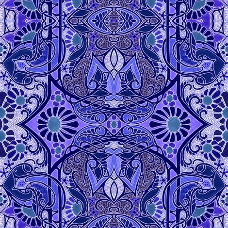 Yo Ho Ho IndiGo Go  fabric by edsel2084 on Spoonflower - custom fabric