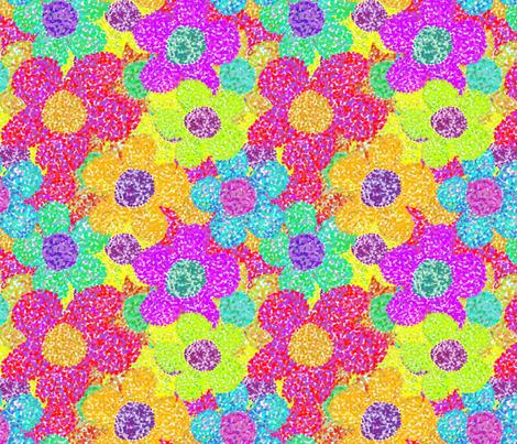 Flowers  - Pointillism  fabric by linsart on Spoonflower - custom fabric