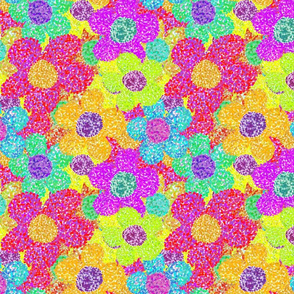 Flowers  - Pointillism