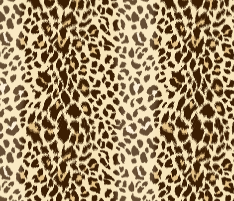 Realistic Wild Leopard Print fabric by shellypenko on Spoonflower - custom fabric