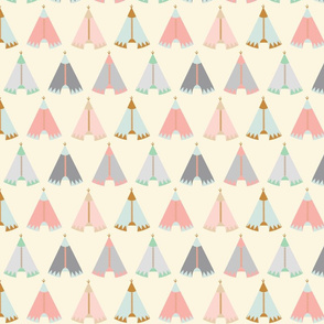 tee pees pink/cream/grey/mint