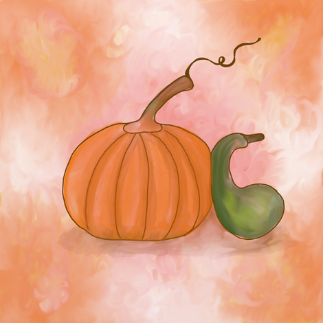 Watercolor Autumn Harvest fabric by addie_d on Spoonflower - custom fabric