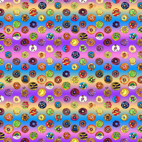 Fun Rainbow Donut Pattern