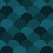Scallops - Dark Blue Hue