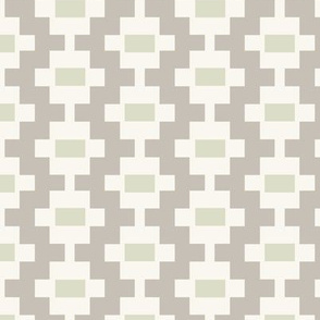Aztec Ladder - Taupe, Pear