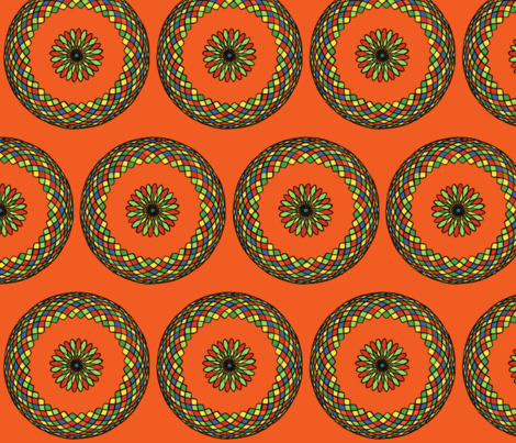 Spirograph Bloom fabric by garren on Spoonflower - custom fabric
