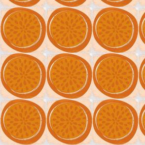 Orange Block Print