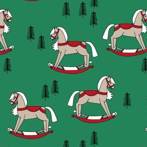rocking horse fabric // vintage christmas toys design by andrea lauren - christmas