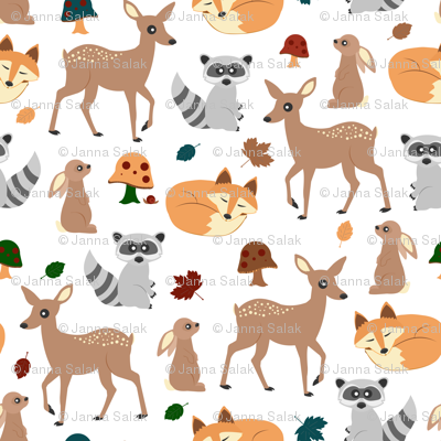 Woodland Animals Small Repeat