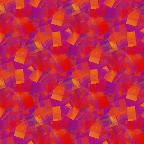 Cubism in violets, reds and oranges