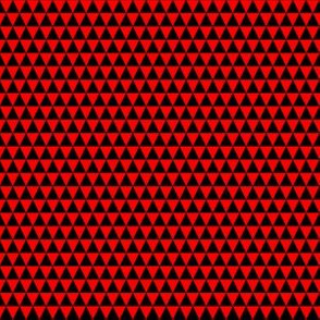 Quarter Inch Black and Red Triangles