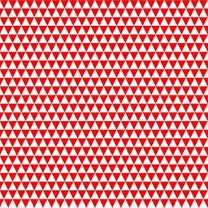 Quarter Inch White and Red Triangles