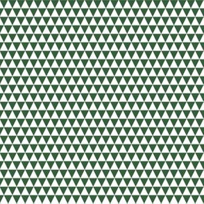 Quarter Inch White and Hunter Green Triangles