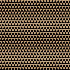 Quarter Inch Black and Camel Brown Triangles