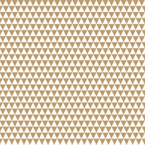Quarter Inch White and Camel Brown Triangles