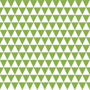 Half Inch White and Greenery Green Triangles