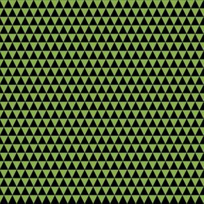 Quarter Inch Black and Greenery Green Triangles