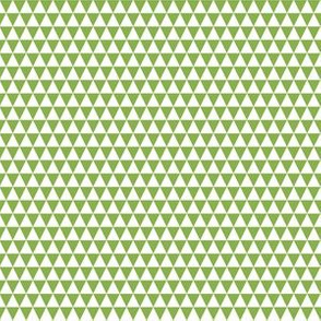 Quarter Inch White and Greenery Green Triangles
