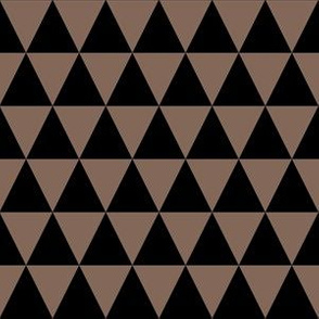 One Inch Black and Taupe Brown Triangles