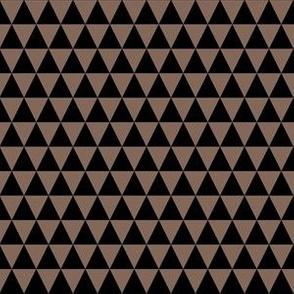 Half Inch Black and Taupe Brown Triangles