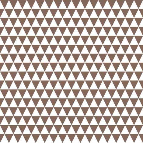 Half Inch White and Taupe Brown Triangles fabric by mtothefifthpower on Spoonflower - custom fabric