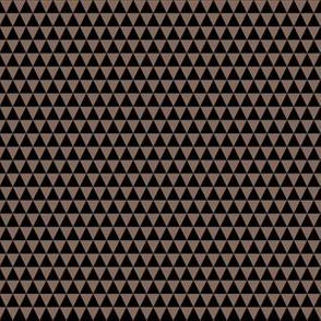 Quarter Inch Black and Taupe Brown Triangles