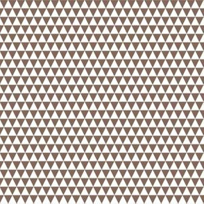 Quarter Inch White and Taupe Brown Triangles