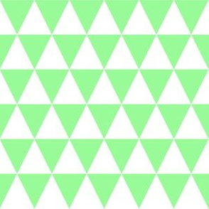 One Inch White and Mint Green Triangles