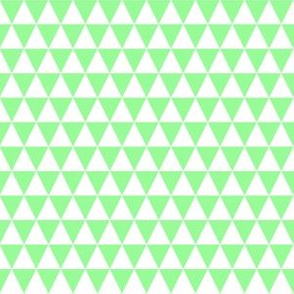 Half Inch White and Mint Green Triangles