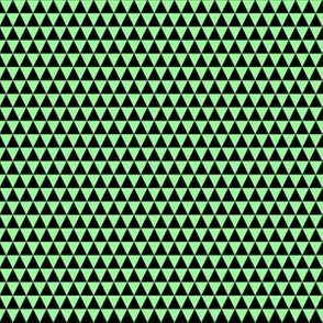 Quarter Inch Black and Mint Green Triangles