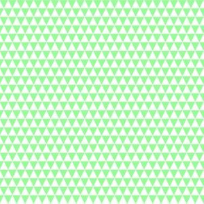 Quarter Inch White and Mint Green Triangles